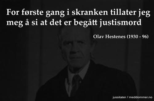 Olav Hestenes - Justismord