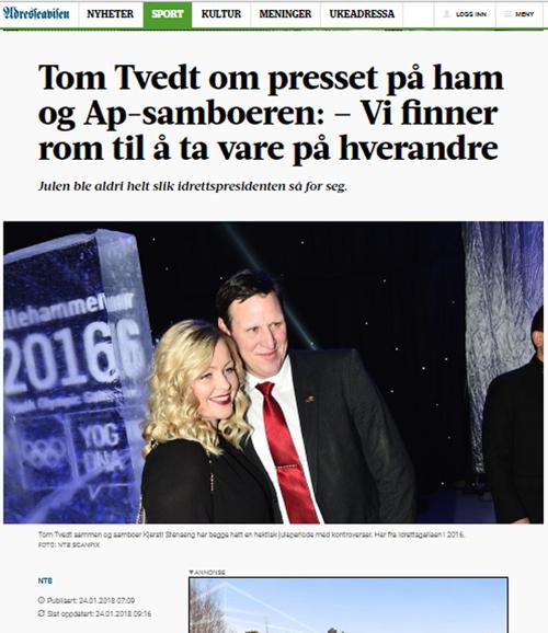 Tom Tvedt NIF Adresseavisen