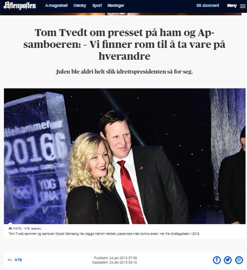 Tom Tvedt NIF Aftenposten
