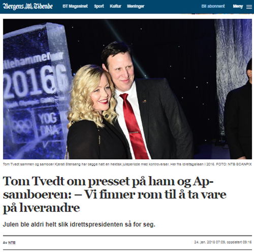 Idrettspresident Bergens Tidende