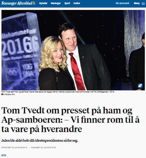 Idrettspresident Stavanger Aftenblad