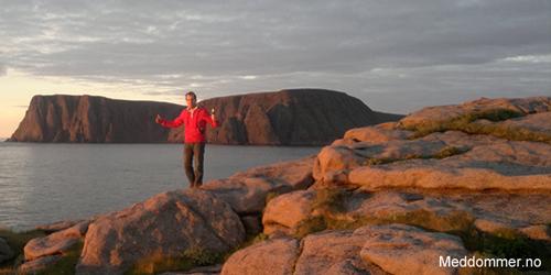 Nordkapp-platået i bakgrunn fra nordvest, Knivskjelodden