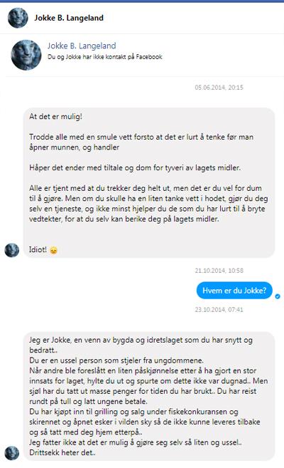 Falsk ryktespredning av Nyvoll